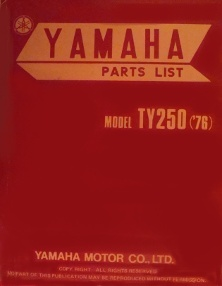 parts list TY 250 C